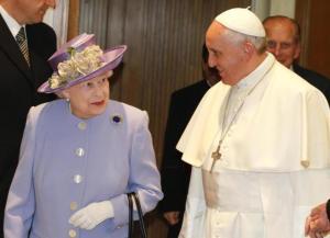 Isabel II con el Papa Francisco